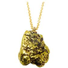 19th century alaskan gold nugget pendant for