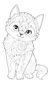 Warrior Cat Coloring Page Pictures Pages Cute Aeroshiftinfo
