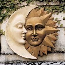 design toscano celestial harmony sun and moon wall sculpture outdoor wall art at hayneedle on sun moon garden wall art with celestial harmony wall sculpture statue sun moon 16 hand made is