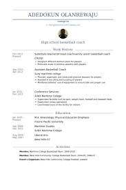 Basketball Coach Resume 6 Substitute TeacherJv Head CoachVarsity Assist Basketball  Coach Resume Samples