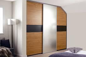 black and french walnut sliding wardrobe doors