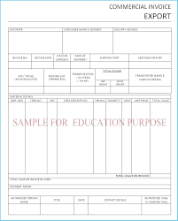 quickbooks invoice template free commercial export invoice template from quickbooks to excel