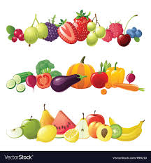 fruit and vegetables border. Beautiful Fruit Fruits Vegetables And Berries Borders Vector Image With Fruit And Vegetables Border E