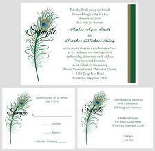 Peacock Invitations Peacock Wedding Invitations Ebay