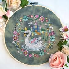 Modern Cross Stitch Patterns Extraordinary Modern Cross Stitch The Swan Princess Cross Stitch Pattern PDF