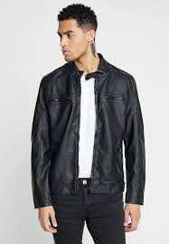 jones faux leather jacket black