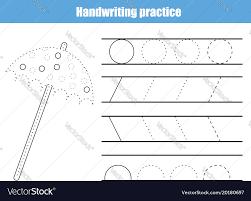 Handwriting Practice Sheet Educational Children