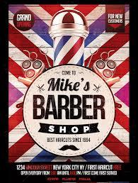 barber flyer 27 barbershop flyer template printable psd ai vector eps format