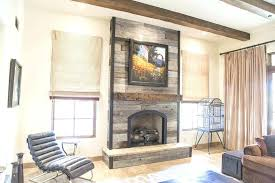 grey fireplace