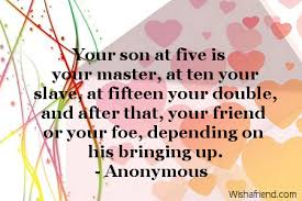 Quotes About Your Son Gorgeous Your Son At Five Is Your Birthday Quote For Son