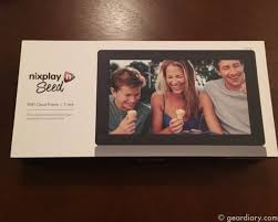 geardiary nixplay seed digital frame will grow on you as you add new images