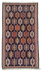 blue vintage shirvan kilim rug 6 1 x 11 73 in x 132 in