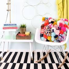 diy pom pom pillow fun diy home decor project for fall yarn pom pom