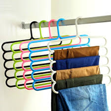 5 layer colorful multifunctional hangers for towels trousers scarfs pants