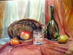 Картинки по запросу акварель бутылки живопись и графика  Картинки по запросу акварель бутылки