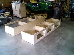 improved platform bed with storage plans diy inspirations also how to make