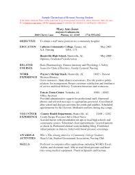 Simple Registered Nurse Resume Sample Format Erbilclub Com