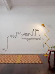20 Modern Wall Decoration Ideas Creating Cable Artworks