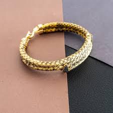 14 carat 7 03 gr yellow gold men s leather bracelet