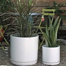 Gainey Cylinder Ceramic Pots Modern Indoor Pots And Planters