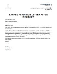 Rejection Letter Template Free Download Create Edit Fill And