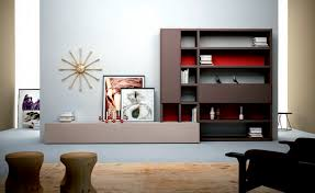 Modern Cabinet Living Room Contemporary Living Room Wall Unit Lacquered Wood L106 Md House