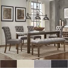 Cassidy Stainless Steel Top Rectangle Dining Table Set by iNSPIRE Q Artisan  (5-Piece Set - 4 Bonded Leather Chairs), Brown, Size 5-Piece Sets