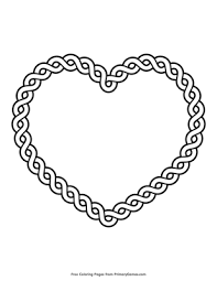 Displaying 235 heart printable coloring pages for kids and teachers to color online or download. Celtic Heart Coloring Page Free Printable Pdf From Primarygames