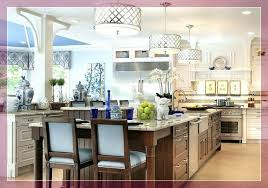 how low to hang chandelier over kitchen island