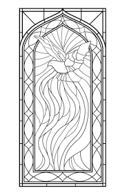 Glas In Lood Raam Met De Heilige Geest Kleurplaat Gratis