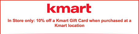 kmart gift cards 10 off in