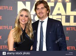 Rome 07 Dic 2018 - The Space Moderno - preview film UN NATALE A 5 STELLE  Martina Stella and the husband Andrea Manfredonia Credit: Giuseppe Andidero  Stock Photo - Alamy