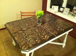 Stenciling Furniture Ideas: DIY Paisley Tabletop - Stenciling Ideas for  Home Decor