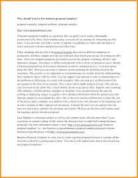 How Write Business Essay Proposal Letter Free Printable Form Generic