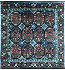 square hand knotted area rug william morris rugs wool uk