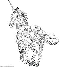 Unicorn Cute Coloring Pages For Adults