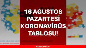 Son dakika: Bugünkü vaka sayısı açıklandı? 16 Ağustos 2021 koronavirüs  tablosu yayınlandı! Türkiye'de bugün kaç kişi öldü? 16 Ağustos Korona  tablosu! - Haberler