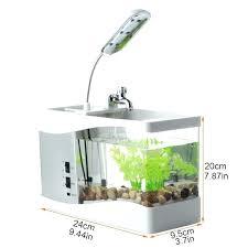desktop fish tank mini aquarium desktop fish tank electronic led bowl decoration with water pump wallpaper desktop fish tank