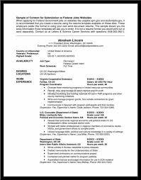 Federal Job Resume Sample Federal Resume Template 10 Free Word