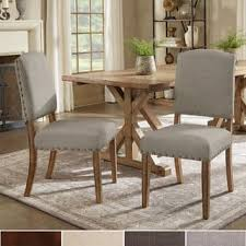 cushioned dining room chairs. Contemporary Chairs Benchwright Premium Nailhead Upholstered Dining Chairs Set Of 2 By  INSPIRE Q Artisan Inside Cushioned Room N