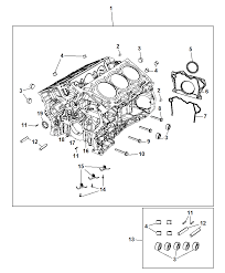 2017 jeep wrangler engine cylinder block and hardware diagram i2353200