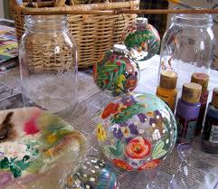 hand painted glass ornaments how to
