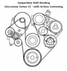 serpentine belt routing diagram for discovery series 2 active cornering