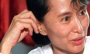 Aung San Suu Kyi, pronounced as Ong San Soo Chee, is a Burmese politician and the General Secretary of the country's National League for Democracy. - aung-san-suu-kyi