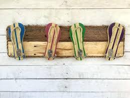 towel rack with hooks. Outdoor Towel Hooks Pool Decor Flip Flop Rack Dog Leash Holder With O