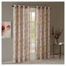 miri textured printed window curtain panel