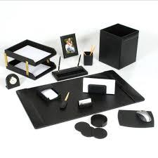 leather desk set 14 piece black gold cute office desk organizer cute office desk accessories cute