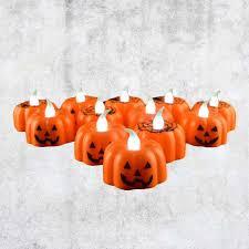 Small Pumpkin Designs Classic Candle Lantern Pumpkin Design Small Led Durable Indoor Candle Lamp Candle Lantern Halloween Party Decor Pattern Random