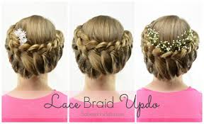 Lace Hair Style lace braid updo wedding flowergirl hairstyle babesinhairland 3907 by wearticles.com