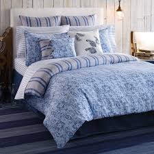 blue paisley bedding design